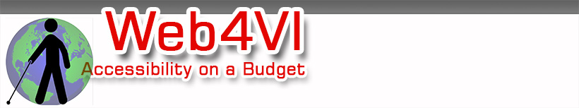 Web4VI: Accessibility on a Budget